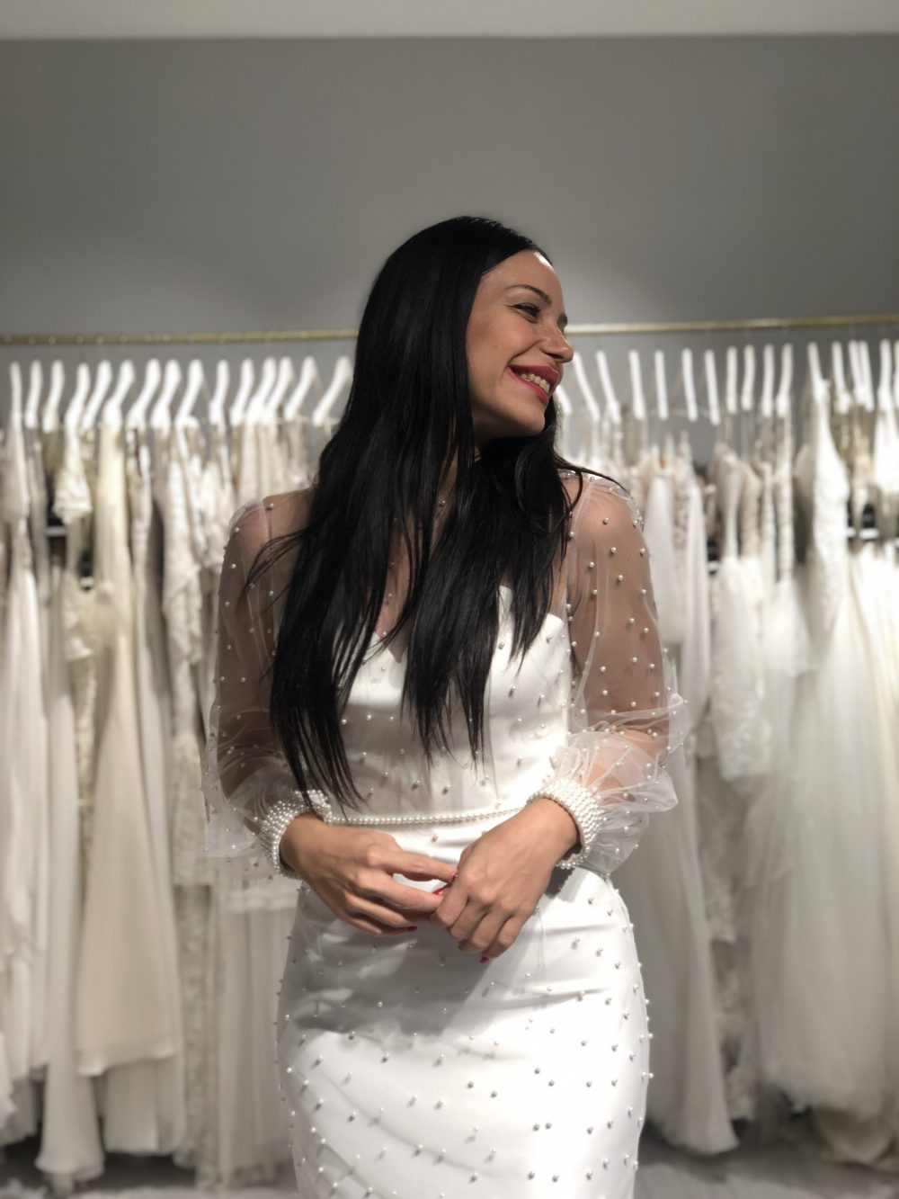 Pearly Wedding Dress